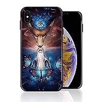 iPhone XS 携帯カバー 鹿 いんすい カバー TPU 薄型ケース 防塵 保護カバー 携帯ケース アイフォンケース 対応 ソフト 衝撃吸収 アイフォン スマートフォンケース 耐久