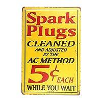 dl-sparkプラグ、サイン、ドリルRivetedすぐに飾れます。完璧な広告サインガレージやショップ