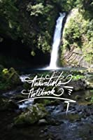 Naturalists Notebook: 6x9 Inch Lined Journal/Notebook Designed with Naturalists in Mind - Waterfall, Dark Green, Flow, Peaceful, Calligraphy Art with Photography, Gift Idea