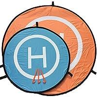 【ASPALAND】 ドローン 折りたたみ 式 ヘリポート 直径 74 cm オレンジ / ブルー 両面 使用 (74cm)