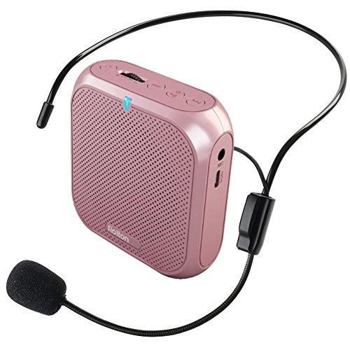 ROLTON ポータブル拡声器 イベント用スピーカー ハンズフリー 音楽再生可能 マイク付き USBメモリー&micro...