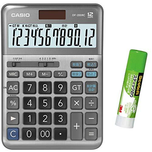 カシオ CASIO 12桁 軽減税率電卓 税計算 デスクタイプ DF-TK20 セット