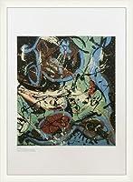 ポスター ジャクソン ポロック Composition whth Pouring Ⅱ 1943 額装品 ウッドベーシックフレーム(ホワイト)