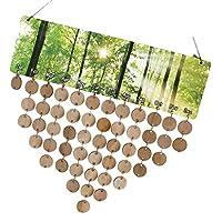KOZEEY 木製カレンダーボード ディスク アセンブリフック DIY 手作り 記念日 誕生日 インテリア デザイン ハングデコレーション プレゼント 5タイプ選べ  - タイプ5