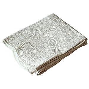 水洗いキルトマルチカバー 正方形 190×190cm アイボリー 1140076003052