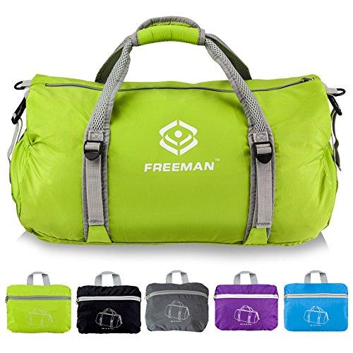 FREEMAN 折り畳みバッグ ボストンバッグ 超軽量 防水 大容量 35L 手提げ アウトドア コンパクト ダッフルバッグ スポーツ ジム キャンピング トラベルバッグ
