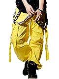 SHOOW TIME (ショータイム) ダンスパンツ サスペンダーパンツ イエロー/XL stdt002