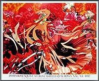 ポスター ジェームズ ローゼンクイスト Pearls Before Swine Flowers before Flames 1990年 限定1000枚 額装品 アルミ製ベーシックフレーム(ブラック)