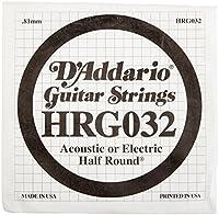 D'Addario Single Half Round 032 [並行輸入品]