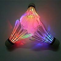 WINOMO NoveltyスポーツLED GlowingライトアップバドミントンShuttlecock–2pc /セット(レッドライト)