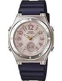 [カシオ]CASIO 腕時計 WAVECEPTOR ウェーブセプター レディース電波ソーラーウォッチ ネイビー MULTIBAND6 マルチバンド6 LWA-M143-2AJF レディース
