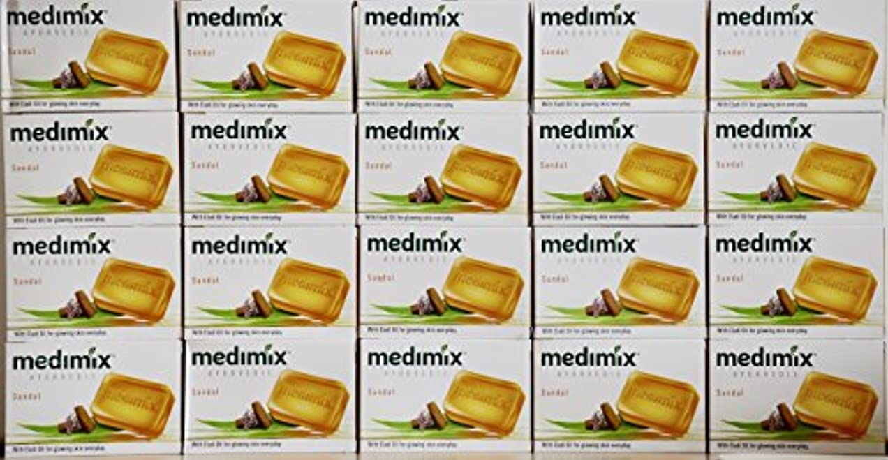 ジャムキャプション聡明medimix メディミックス アーユルヴェディックサンダル 石鹸(旧商品名クラシックオレンジ))125g 20個入り