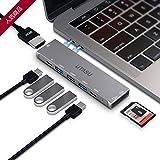 UTASU USB Type C ハブ 8-in-1 マルチUSB-C ハブ Macbook Pro 13/15 インチ 対応 Thunderbolt 3ポート搭載40Gbps高速データ転送5K@60Hz/100W PD急速充電/4K HDMI/USB 3.0ポートx3 /SD&MicroSD カードスロット/MacBook Air 2018 2019 MacBook Pro2016/2017/2018/2019に対応