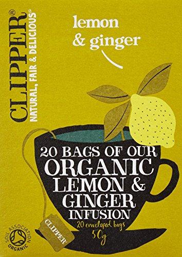クリッパー オーガニック レモン&ジンジャーティー 20P
