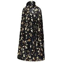 [120cmイエロー] Halloween Cloak Christmas Partyケープコスプレ衣装女性用
