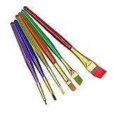 WINOMO 水彩画筆 水彩 油絵用筆 画筆 ペイントブラシ 6本セット