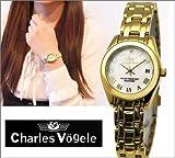 [シャルルホーゲル]Charles Vogele レディース腕時計 イエローゴールド×ホワイトシェル文字盤【CV-9002-2】 [並行輸入品]