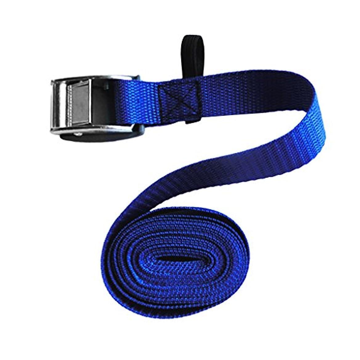 説得力のある移行するギャングF Fityle 亜鉛合金 カヌー サーフボード カヤック カムバックル PVC 保護カバー ストラップ ブルー 3長さ選択
