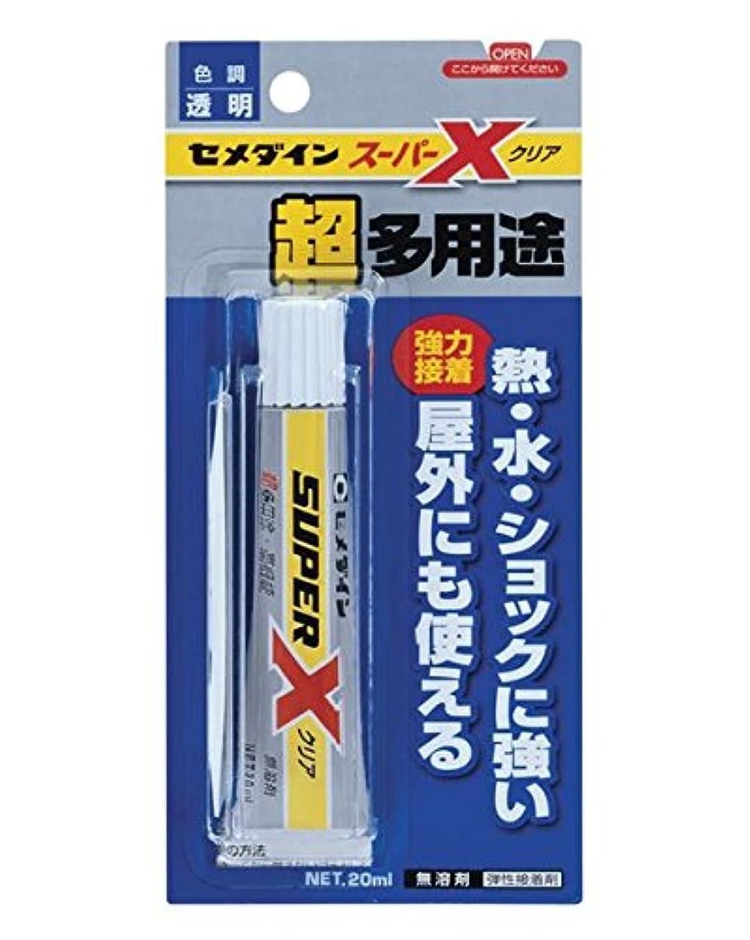 消毒する中止しますよろめくデコ電の接着剤といえばこれ! セメダイン スーパーXクリア(20ml)