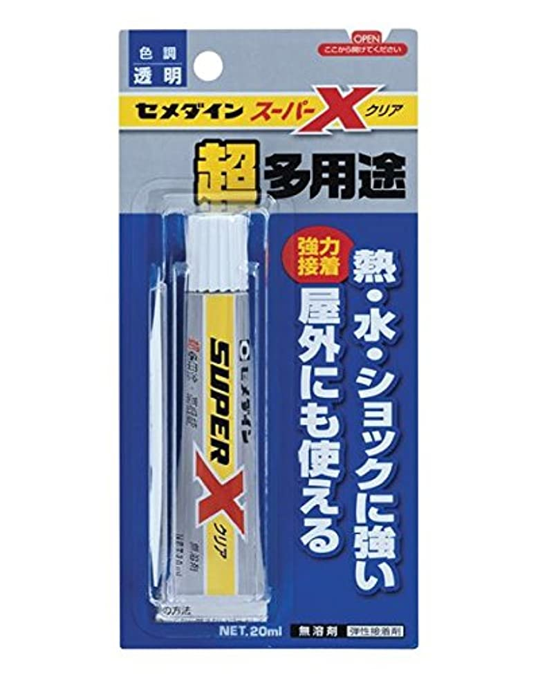 エレクトロニックアンティーク雰囲気デコ電の接着剤といえばこれ! セメダイン スーパーXクリア(20ml)