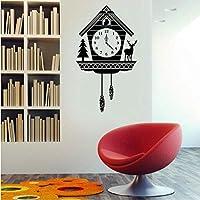 Jason Ming 素朴なカッコウ時計の壁デカールビニールアートステッカーインテリア、家、リビングルーム、アパート、および寝室用42 X 74 Cm