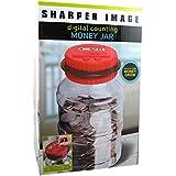 The Sharper Image電子デジタルコインカウントお金Jar – Piggy Savings Bank レッド