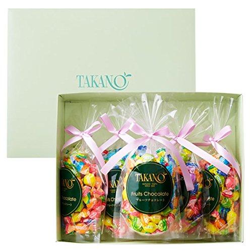 新宿高野 フルーツチョコレート5入EA (ギフト セット) 贈り物 [バレンタインデー/ホワイトデー/手土産] 7種類のフルーツ 5袋入り
