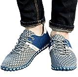 (アリルチョウ) ウォーキング メッシュ シューズ おしゃれ カジュアル スポーツ 靴 メンズ グレー ブルー 26 cm