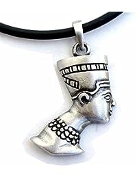 Nefertiti Egyptian Queen Princess PaganウィッカピューターペンダントW PVCネックレス