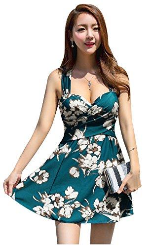 [해외](아이리 숍) ilishop 수영복 레데이스 체형 커버 섹시 원피스 귀여운 꽃 무늬/(Irishop) ilishop Swimsuit Lady`s Body Cover Sexy One Piece Cute Flower Pattern