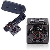 Egomall 1200万画素 超小型 ビデオカメラ 動作検知付き 1080PフルHD 防犯カメラ ミニDV ループ機能 アウトドア ビジネス スポーツシーンに