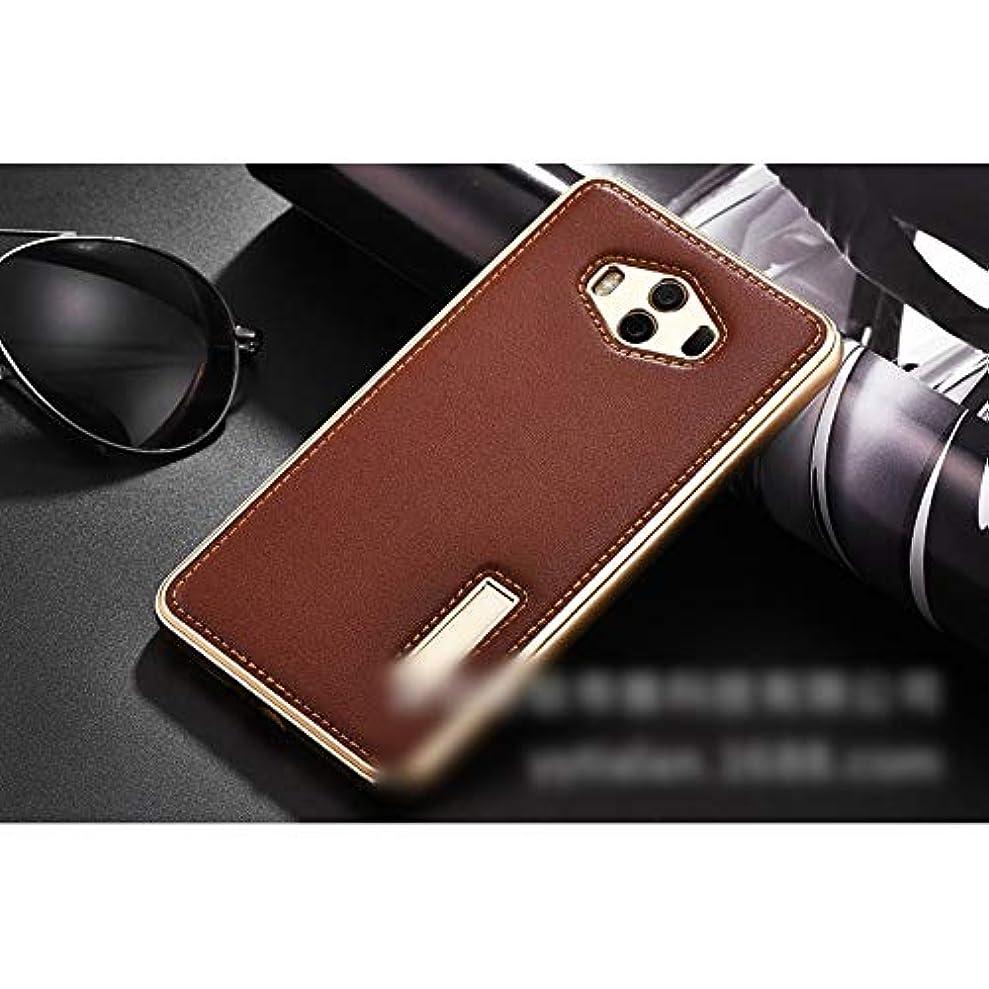 協同ホイールスロープTonglilili Huawei社m1010対外貿易爆発革ケースmate9プロ新しい携帯電話ケースの金属ドロップ保護カバー (Color : ブラウン, Edition : P10)
