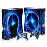 Linyuan 安定した品質 T0268* Skin Decal Wrap Sticker for Microsof XBOX360 SLIM Console+2 Controllers