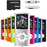MYMAHDI MP3/MP4 Music Player with 16 GB Memory Card(Expandable Up to 128GB),Supporting Photo Viewer,Voice Recorder,FM Radio,E-Book and Earphone Provided Color Silver