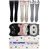 Girls Knee High Long Socks Gift For 4-8 Year Old Girl Sock From Tiny Captain