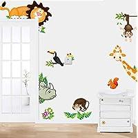 樱のホーム かわいい動物の取り外し可能な壁のステッカーアートデカール壁画DIYの壁紙(多色)