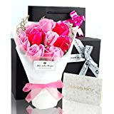 ソープフラワー 花束 プレゼント ギフト 誕生日 母の日 メッセージカード付き(ピンク)