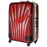 ストッパー付スーツケース TSAロック搭載 フレームタイプ 旅行カバン 鳳凰 Lサイズ Mサイズ MSサイズ (24、中型、M, ワインレッド)
