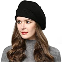 AICHUAN French Style Beret Hats for Women Knit Artist Hats Classic Solid Color Warm Beanie Hat