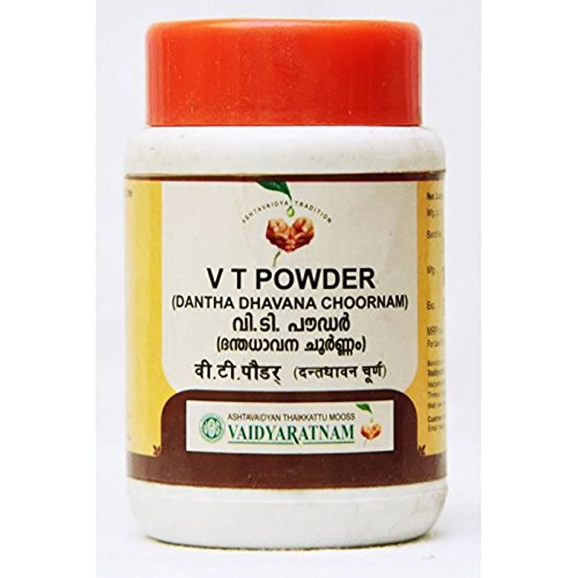 まっすぐにする冊子一口Ayurvedic Vaidyaratnam Tooth Powder ( V T Powder )