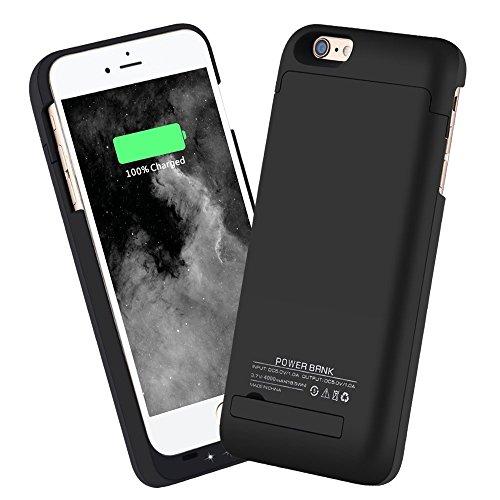 SHAKO iPhone6S Plus/6 Plus 5.5インチ4000mAh バックアップバッテリー 内蔵ケース (ブラック)