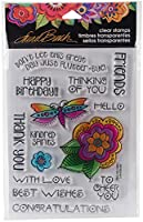 Stampendous SSCL103 Laurel Burch Floral Greetings - Perfectly Clear Stamps