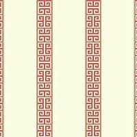 York Wallcoverings sv2680WaverlyストライプGreekキーストライプ壁紙、ホワイト/オレンジ/ゴールド