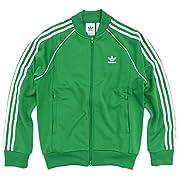 (アディダス) adidas ジャージー ジャケット メンズ スーパースター トラック トップ ジャージ オリジナルス サイズS グリーン/ホワイト