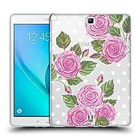 Head Case Designs イングリッシュローズ ウォーターカラー・フラワーズ 2 Samsung Galaxy Tab A 9.7 専用ソフトジェルケース