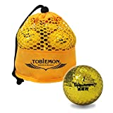 公認球 高反発ソフトコア 2ピース構造ゴルフボール 12球(1ダース) メッシュバック入り ゴールド T-MG