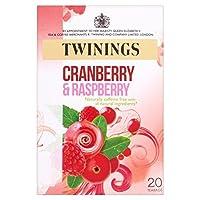 トワイニングのクランベリー&ラズベリーティーバッグパックあたり20 (x 2) - Twinings Cranberry & Raspberry Tea Bags 20 per pack (Pack of 2) [並行輸入品]