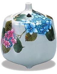 九谷焼香炉(紫陽花)