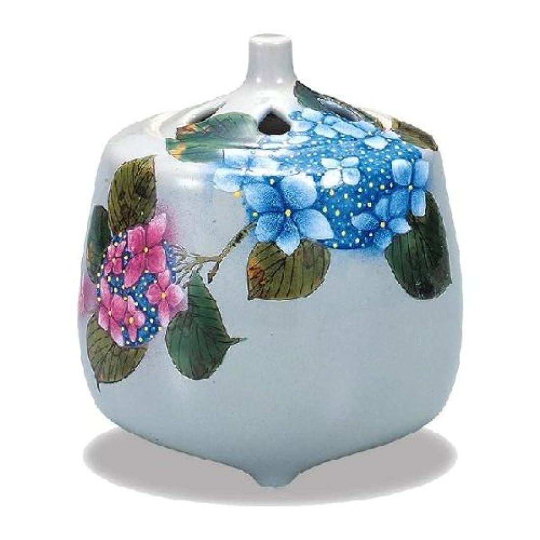 ペルソナ傷つきやすい焦げ九谷焼香炉(紫陽花)