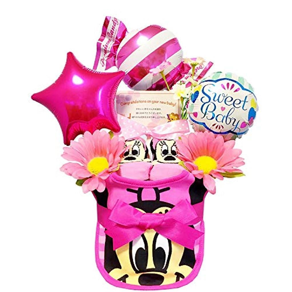 肘掛け椅子平らにするミュートおむつケーキ [ 女の子/ディズニー : ミニー / 1段 ] パンパースM12枚 (1歳 の 誕生日プレゼント に Mサイズ)1602 スタイ ダイパーケーキ 赤ちゃん ベビーシャワー ギフト